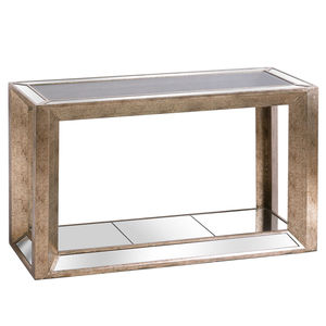 Hill Interiors Augustus Mirrored Console Table With Shelf