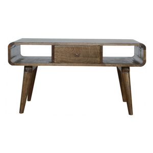 Artisan Furniture Curved Grey Washed Coffee Table