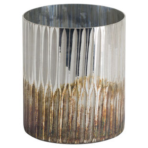 Hill Interiors Grey And  Bronze Large Ombre Candle Holder