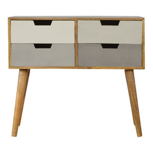 Artisan Furniture Grey And White Gradient Console Table