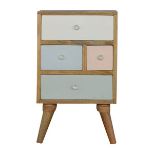 Artisan Furniture Hand Painted Multi Drawer Bedside Table