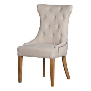Hill Interiors High Wing Ring Backed Dining Chair
