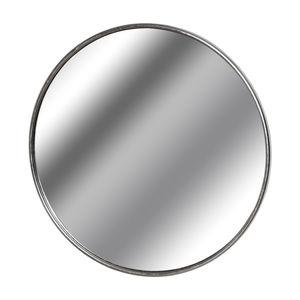 Hill Interiors Silver Foil Large Circular Metal Wall Mirror