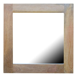Artisan Furniture Square Wooden Framed Wall Mirror