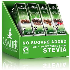 Cavalier - Cavalier Stevia Chocolate Bars Assorted Solid (40g X 32)