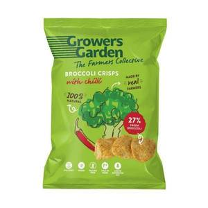 Growers Garden - Broccoli Crisps With Chilli 22g (x 24pack) Snacks And Treats
