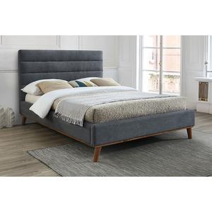 Apollo Double Bedframe - Dark Grey Upholstered Beds