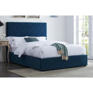 Quinn Double Bedframe -blue Upholstered Beds