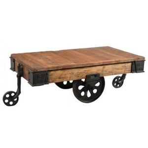Brunel Upcycled Iron Trolley Coffee Table