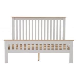 Dorchester Compact Oak & Light Grey 5ft King Bed