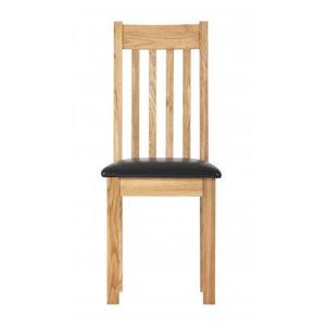 Dorchester Compact Oak Dining Chair With Leather Seat