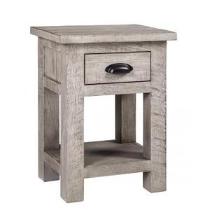 Rustic Sawn Weathered Grey Bedside Table With A Drawer Bedside Cabinet
