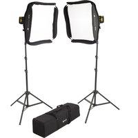 Interfit Badger Beam 60w Led Twin-head Softbox Kit Hbb602k1