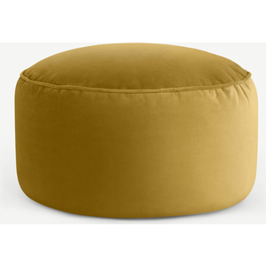 Made.com Lux Velvet Floor Cushion, Vintage Gold Velvet, Gold