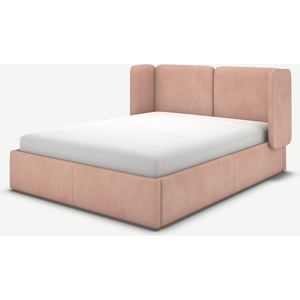 Made.com Ricola Double Ottoman Storage Bed, Heather Pink Velvet, Pink