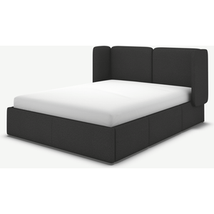 Made.com Ricola Super King Size Bed With Storage Drawers, Etna Grey Wool, Grey