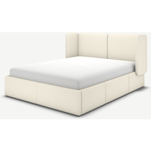 Made.com Ricola Super King Size Bed With Storage Drawers, Ivory White Boucle, White