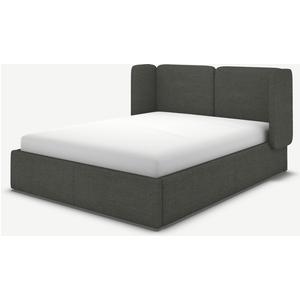Made.com Ricola Super King Size Ottoman Storage Bed, Granite Grey Boucle, Grey