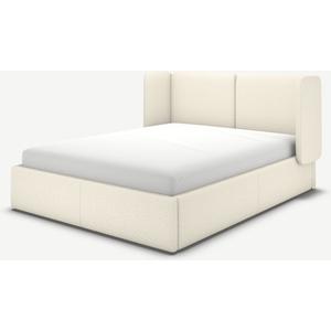 Made.com Ricola Super King Size Ottoman Storage Bed, Ivory White Boucle, White