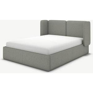Made.com Ricola Super King Size Ottoman Storage Bed, Wolf Grey Wool, Grey