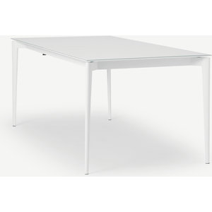 Made.com Tandil 8-12 Seat Extending Dining Table, White, White