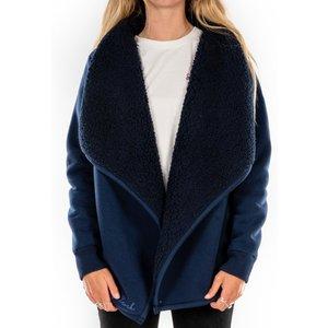 Saltrock - Aldea - Women's Fur Lined Fleece Cardigan - Blue  32604206071890 Mens Outerwear