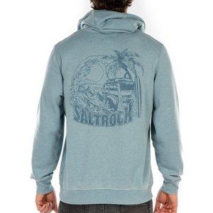 Saltrock - Beach Van - Men's Pop Hoodie - Blue  31925225717842 General Clothing
