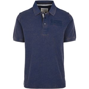 Saltrock - Harry - Men's Washed Polo Shirt - Blue  22367316738130 General Clothing
