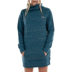 Saltrock - Rolecha - Women's Long Line Funnel Neck Jumper - Blue  22402077589586 General Clothing
