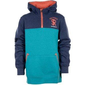Saltrock - Scribe - 1/4 Zip Burnout Hoodie - Blue  33027699245138 General Clothing