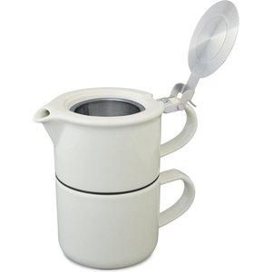 For Life Teapot And Mug - Gorgeous Loose Leaf T-4-1 - White The Wee Tea Company 31701