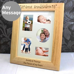 10x8 Great Grandchildren Wooden Photo Frame For You Personalised Gifts P0111a78