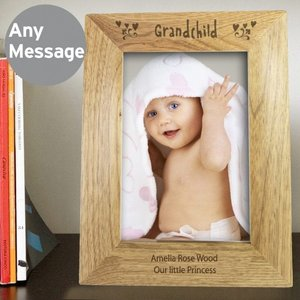 5x7 Grandchild Wooden Photo Frame For You Personalised Gifts P0111a73