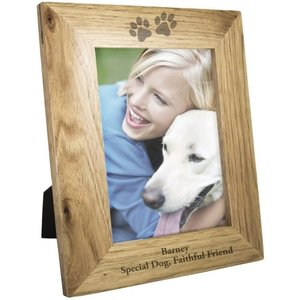 5x7 Paw Prints Wooden Photo Frame For You Personalised Gifts P011149