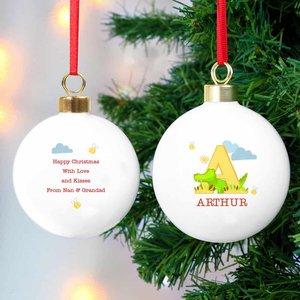 Animal Alphabet Bauble For You Personalised Gifts P0305h38