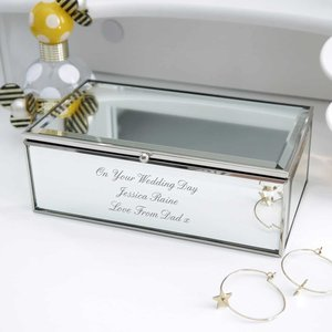 Any Message Mirrored Jewellery Box For You Personalised Gifts P0102e17