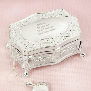 Any Message Small Antique Trinket Box For You Personalised Gifts P0102u09