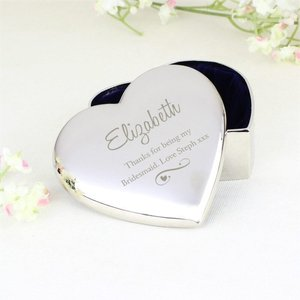 Any Message Swirls & Hearts Heart Trinket Box For You Personalised Gifts P0102u44