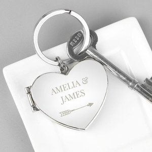 Arrow Heart Photoframe Keyring For You Personalised Gifts P0102u85