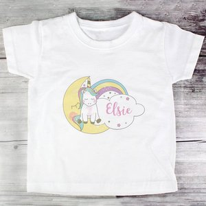 Baby Unicorn T Shirt 1-2 Years For You Personalised Gifts P0510g26