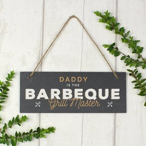 Barbeque Grill Master Printed Hanging Slate Plaque For You Personalised Gifts P0105a47