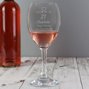 Birthday Craft Wine Glass For You Personalised Gifts P0107c10