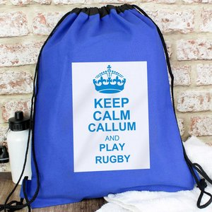 Blue Keep Calm Swim & Kit Bag For You Personalised Gifts P0510a50