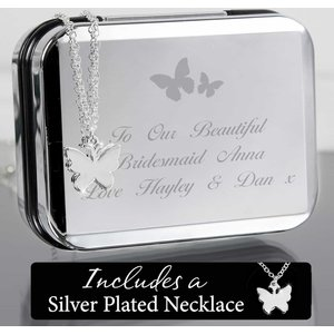 Butterfly Swirl Necklace In Box For You Personalised Gifts P0102r97