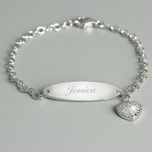 Children's Sterling Silver And Cubic Zirconia Bracelet For You Personalised Gifts P0104k70