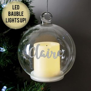 Christmas Led Candle Bauble For You Personalised Gifts P0107f23