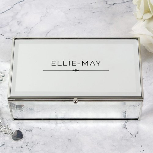 Classic Mirrored Jewellery Box For You Personalised Gifts P0102u69 16.5 x 5.5 x 9.5 cm