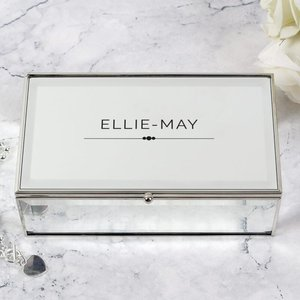 Classic Mirrored Jewellery Box For You Personalised Gifts P0102u69