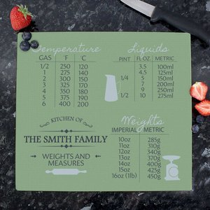 Conversions Glass Chopping Board For You Personalised Gifts P080738