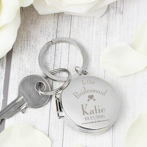 Decorative Wedding Bridesmaid Round Photo Keyring For You Personalised Gifts P0102s27